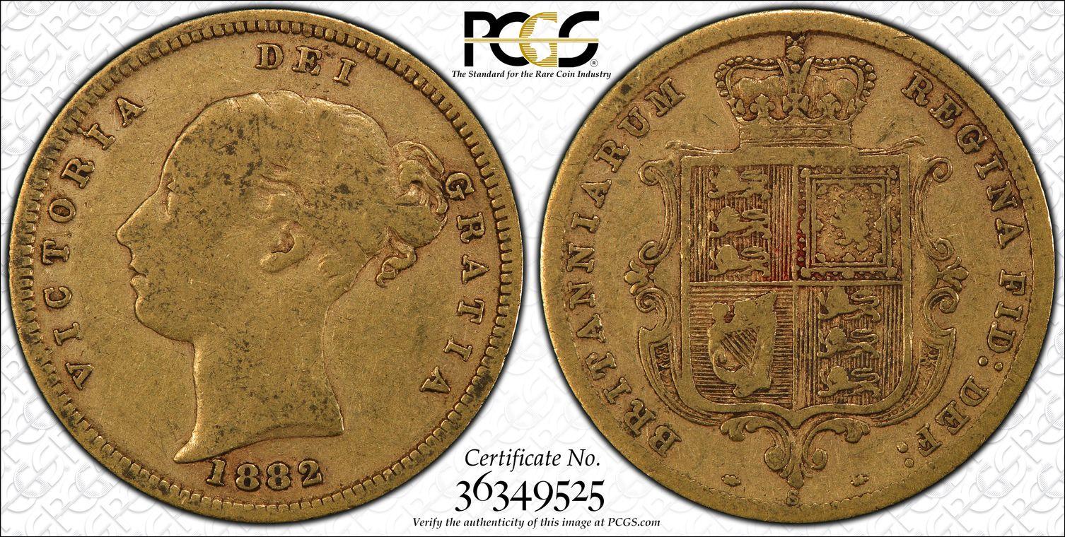 Australia 1882 Sydney Half Sovereign PCGS VF25