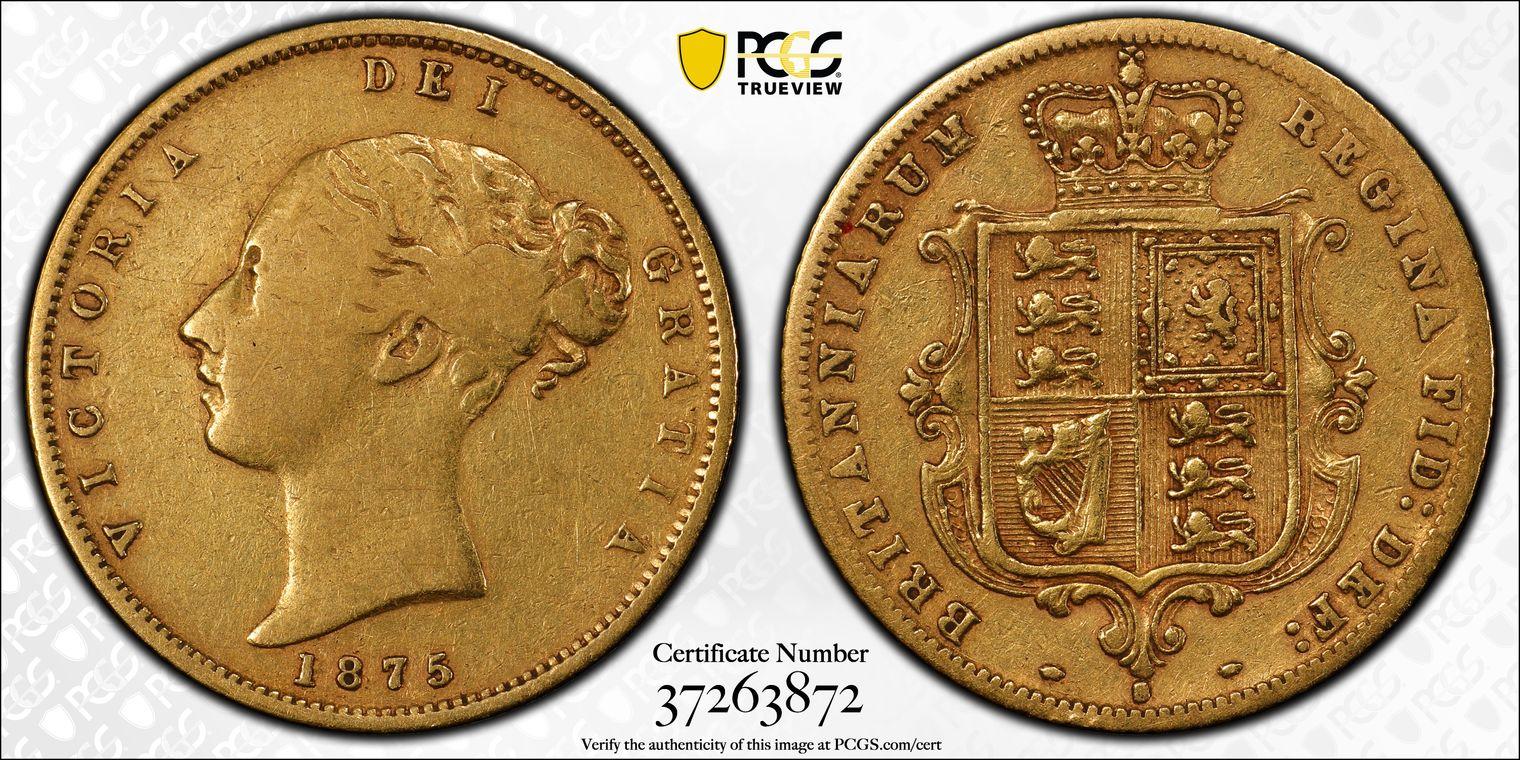 Australia 1875 Sydney Half Sovereign PCGS VF35