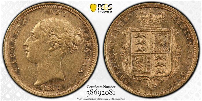 Australia 1887 Sydney Half Sovereign PCGS AU53
