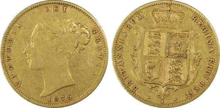 Australia 1875 Sydney Half Sovereign PCGS VG10