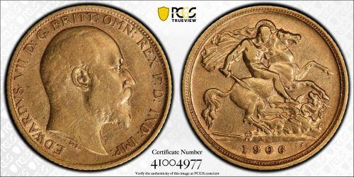 Australia 1906 Sydney Half Sovereign PCGS AU50