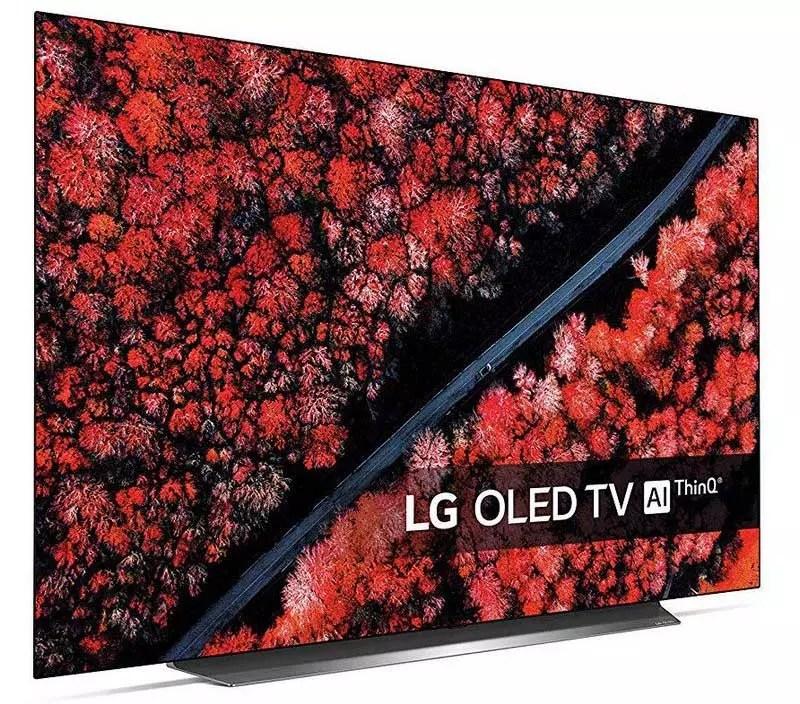 Immagine laterale della Smart TV LG OLED55C9PLA