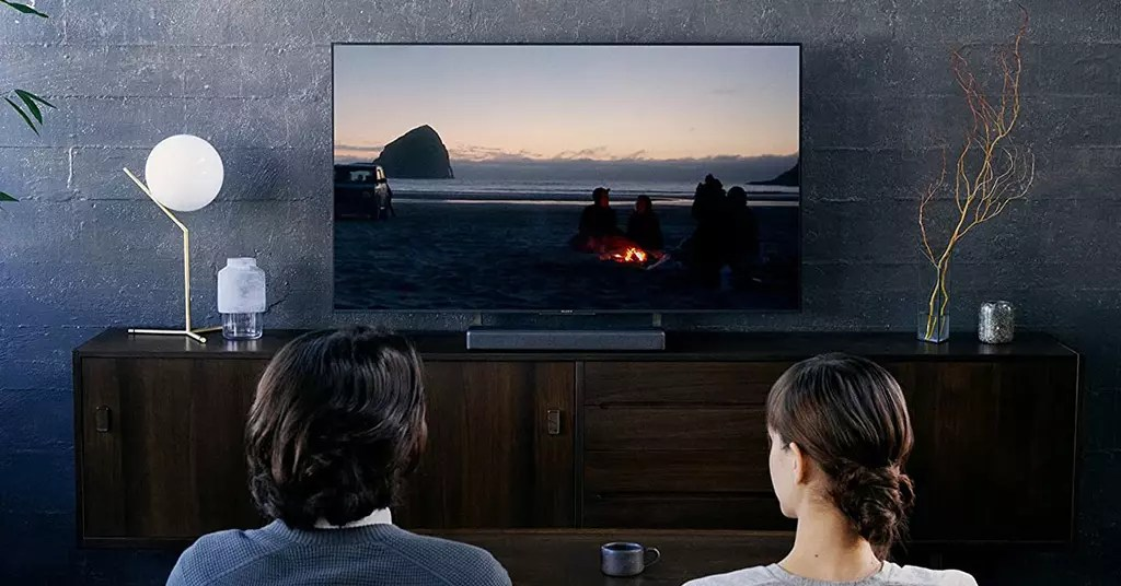 Using the Sony HT-MT300 soundbar in the living room