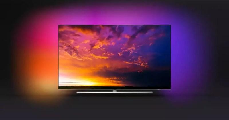 parte anteriore della smart tv philips