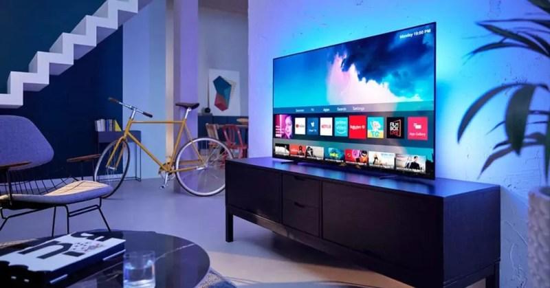 Smart TV OLED lateralmente