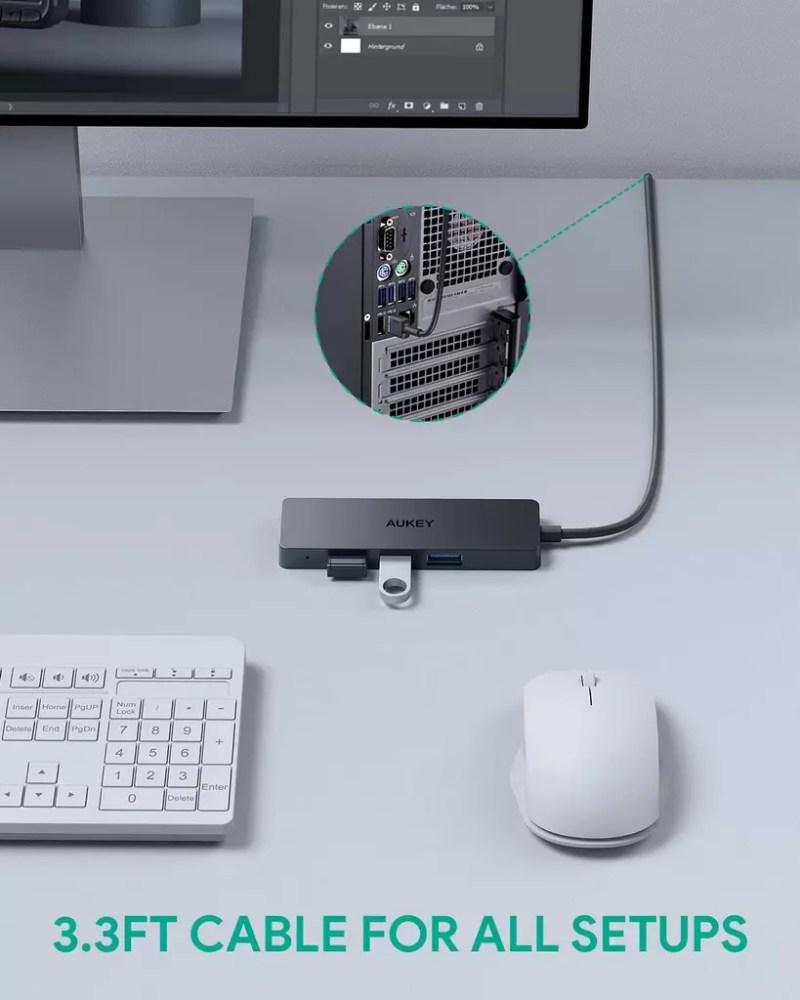 Hub AUKEY USB 3.0
