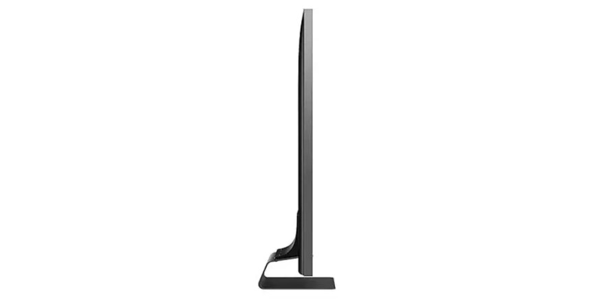 side of the Samsung 55Q90R smart TV