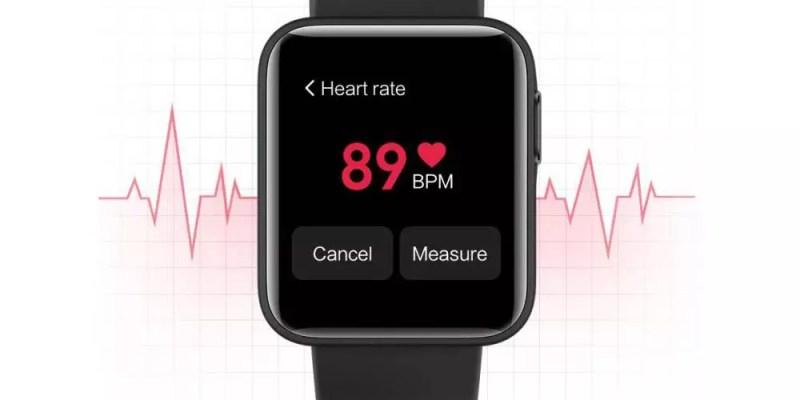 Smartwatch Xiaomi Mi Watch Lite con utilizzo del sensore