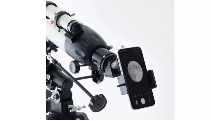 telescopio con supporto mobile