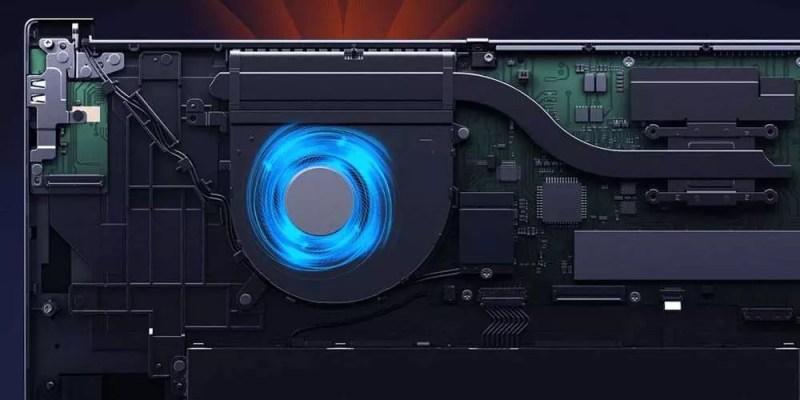 Xiaomi Redmibook 16 laptop raffreddamento