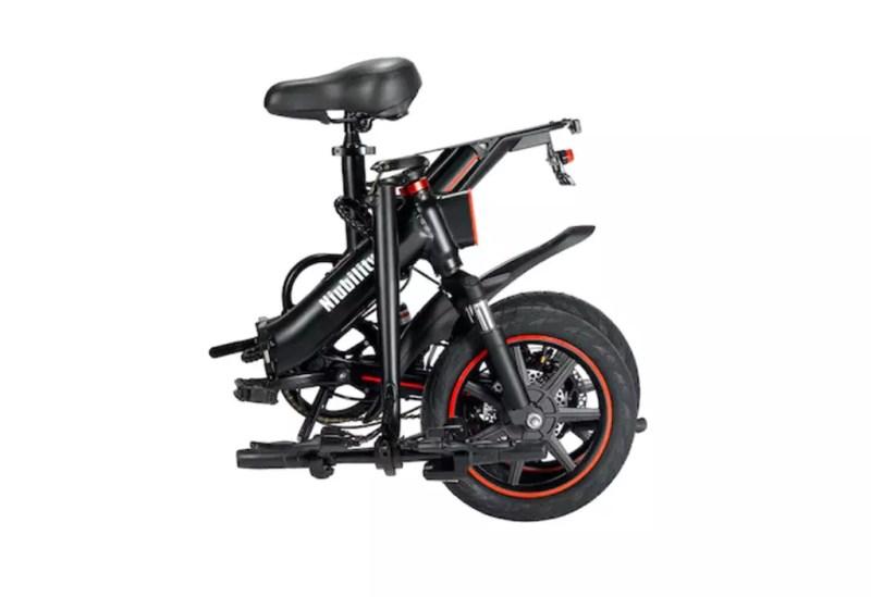 Bici elettrica niubility b14 piegata