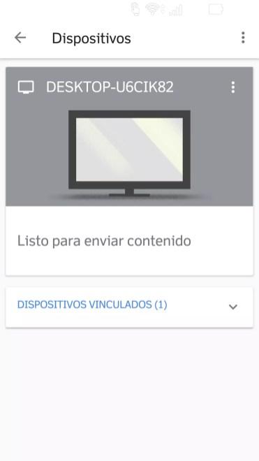 Ordenador encontrado en Google Home