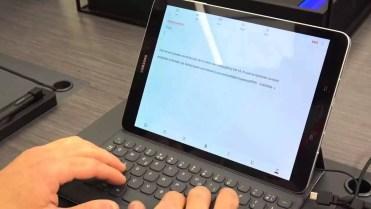 Teclado del tablet Samsung Galaxy Tab S3