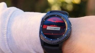 Foto en pantalla del Samsung Gear S3