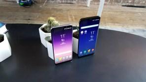 Frontal comaprado Samsung Galaxy S8