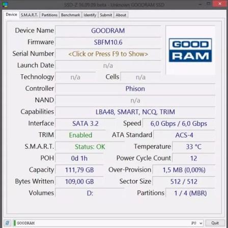 Tados disco SSD Goodram CX300