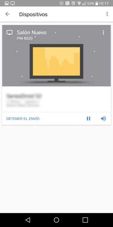 Opciones Chromecast