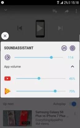 Gestión sonido en SoundAssistant para el Samsung Galaxy S8