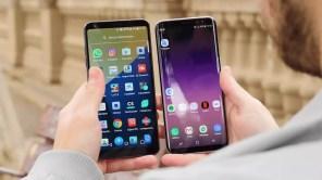 Frontal Samsung Galaxy S8 y LG G6