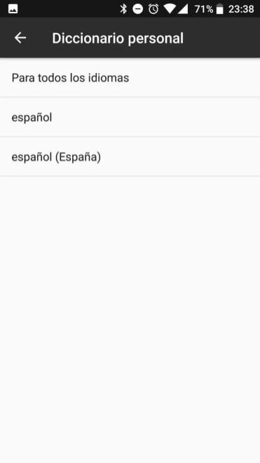 Diccionario en sistema operativo Android