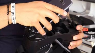 Anclaje de smartphone en el Samsung Gear VR