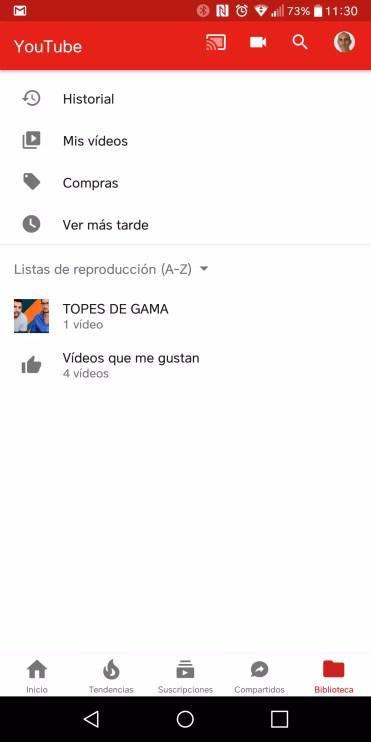 Opciones YouTube