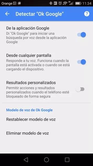 Activar OK Google en Android