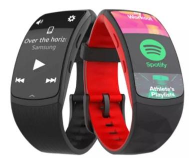 Spotify en la pulsera Samsung Gear Fit 2 Pro