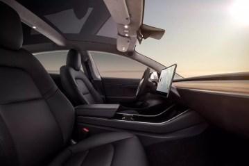 Espacio interior del Tesla Model 3