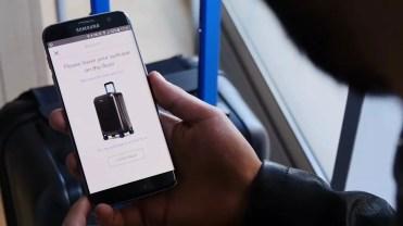 Uso de la aplicación de la maleta Bluesmart Luggage