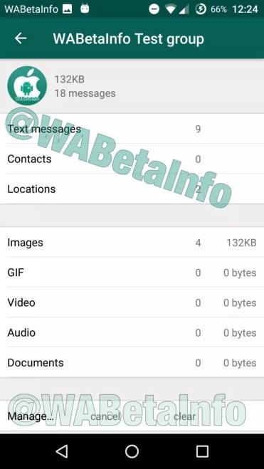 Archivos almacenados en WhatsApp