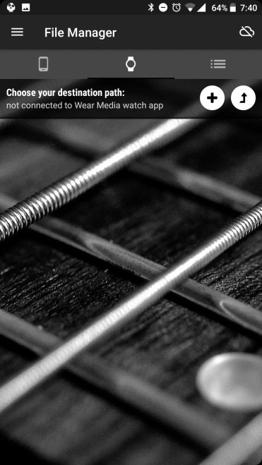 Wear Media para pasar música a tu smartwatch