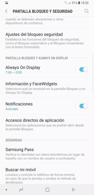 Always On Samsung Galaxy Note 8