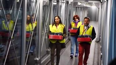 Llegada de los Galaxy Note 8 al vuelo de Iberia
