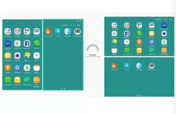 Interfaz del teléfono plegable Samsung