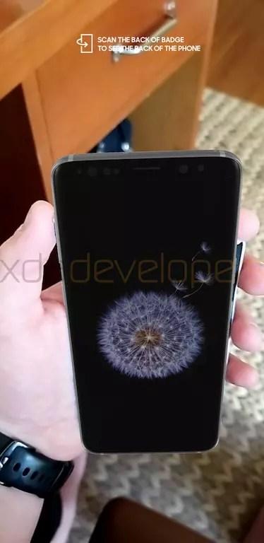 Samsung Galaxy S9 en mano