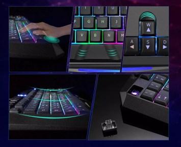 Ergonomía del teclado para jugar VicTsing