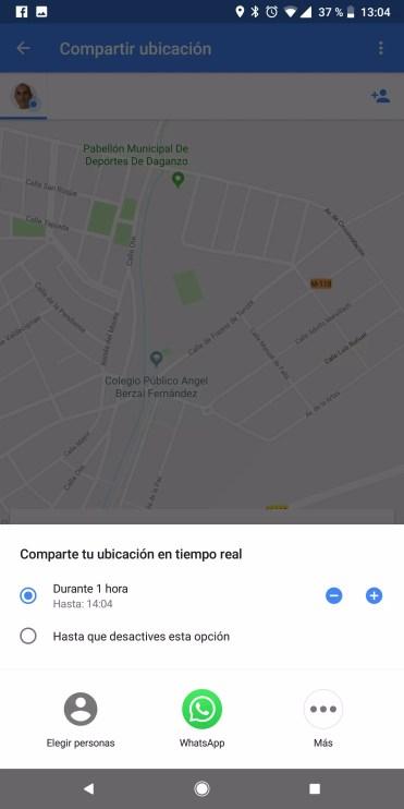 Compartir opciones Google Maps