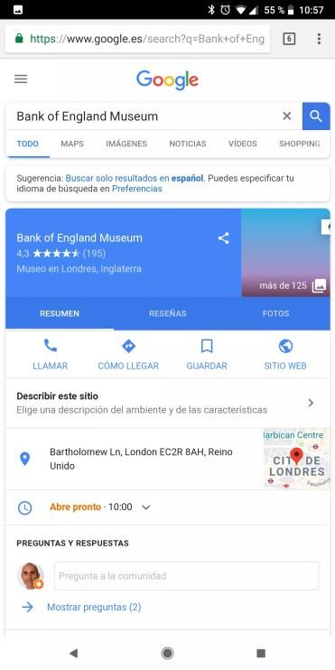 Resultados web con Google Lens