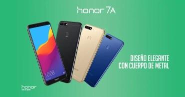 Colores teléfono Honor 7A