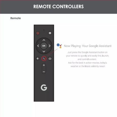 Opciones mando del nuevo reproductor de Google