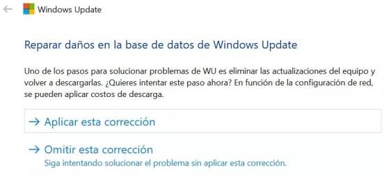 Error localizado al actualizar Windows 10