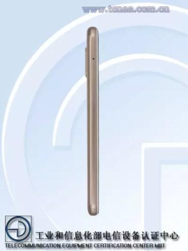 Imagen lateral del Xiaomi Redmi Note 6