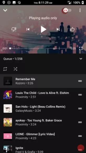Futuro aspecto de YouTube Music