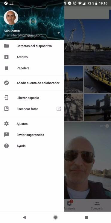 Liberar espacio Google Fotos