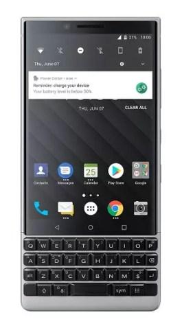 Imagen frontal de BlackBerry Key2