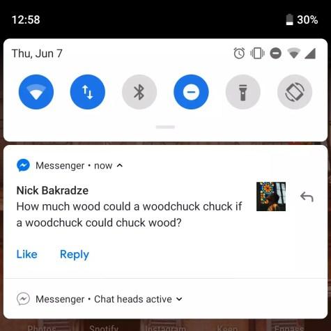 respuesta rápida Android P Deleveloper Preview 3