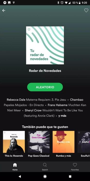Reproducción en Spotify Lite