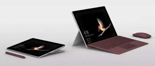 Opciones de uso de Microsoft Surface Go