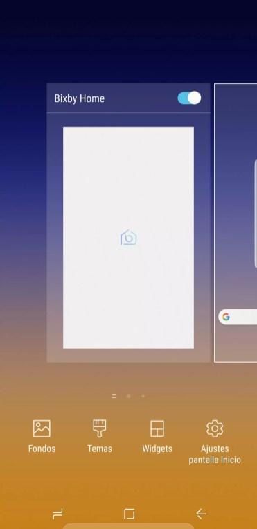 Home de Samsung Galaxy Note 9 Bixby